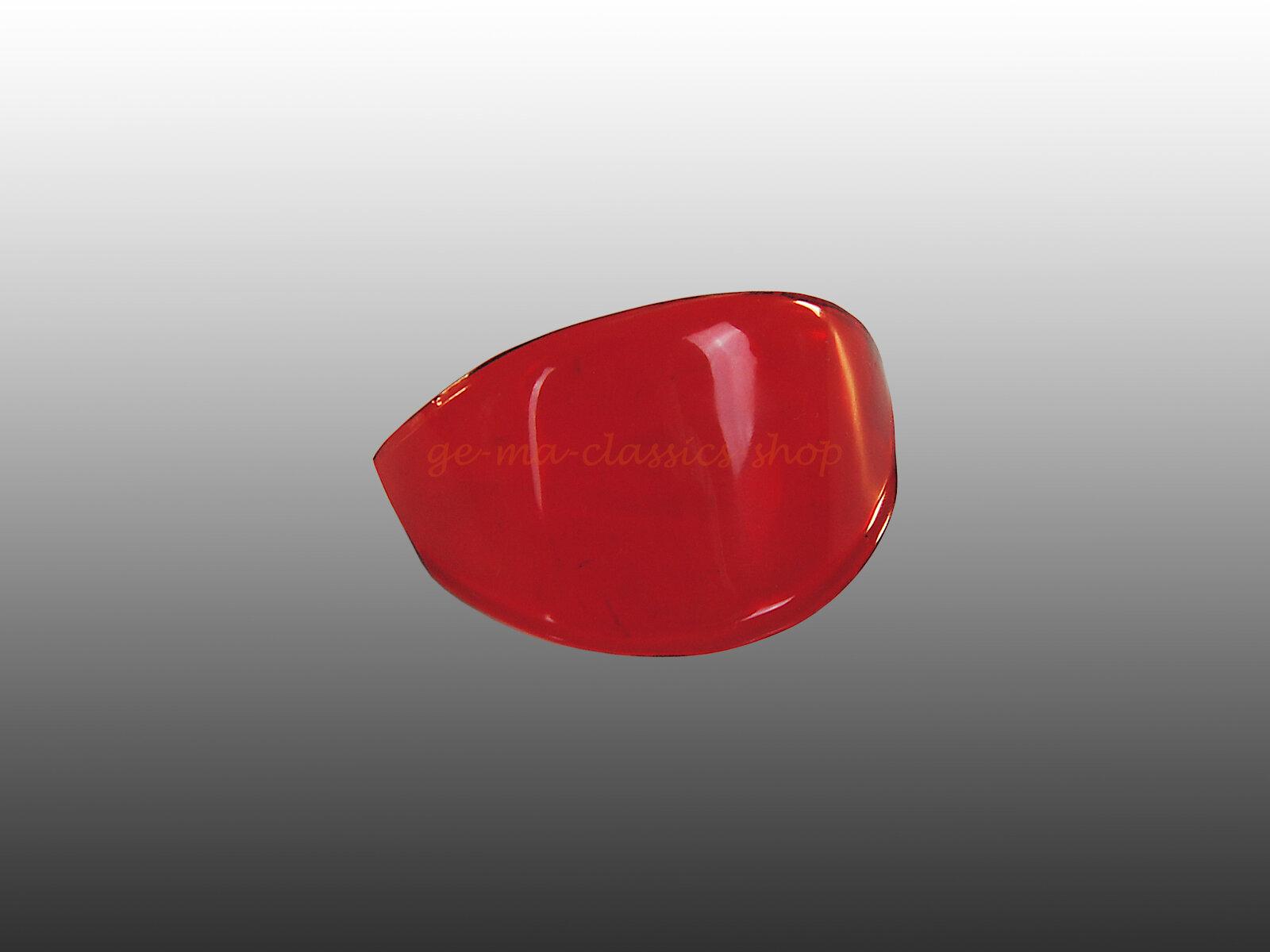 Bremslichtcellone Bremslichtglas Brezel-Käfer Nummernschildnase ROT