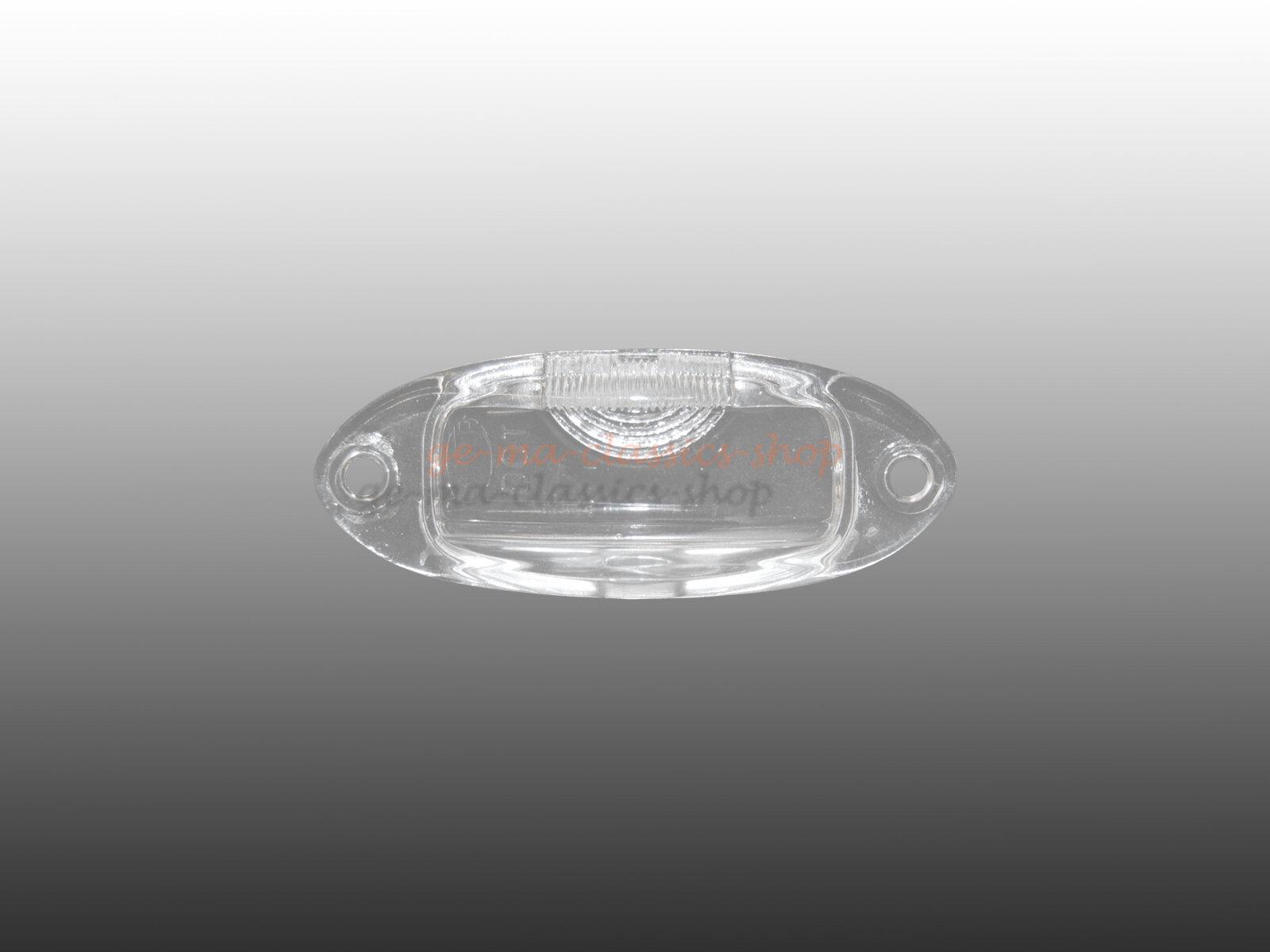 Nummernschildleuchtenglas Karmann Ghia Typ14 HELLA