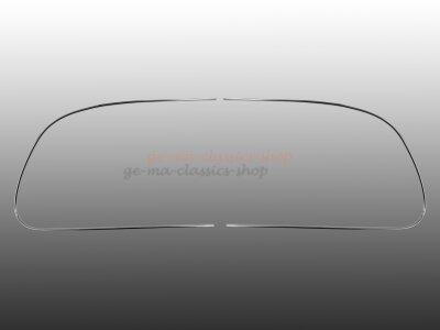 Chrom Zierrahmen-Hälften für VW Oval-Käfer...