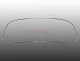 Chrom Zierrahmen-Hälften für VW Oval-Käfer Ovali 53-57 Frontscheibe