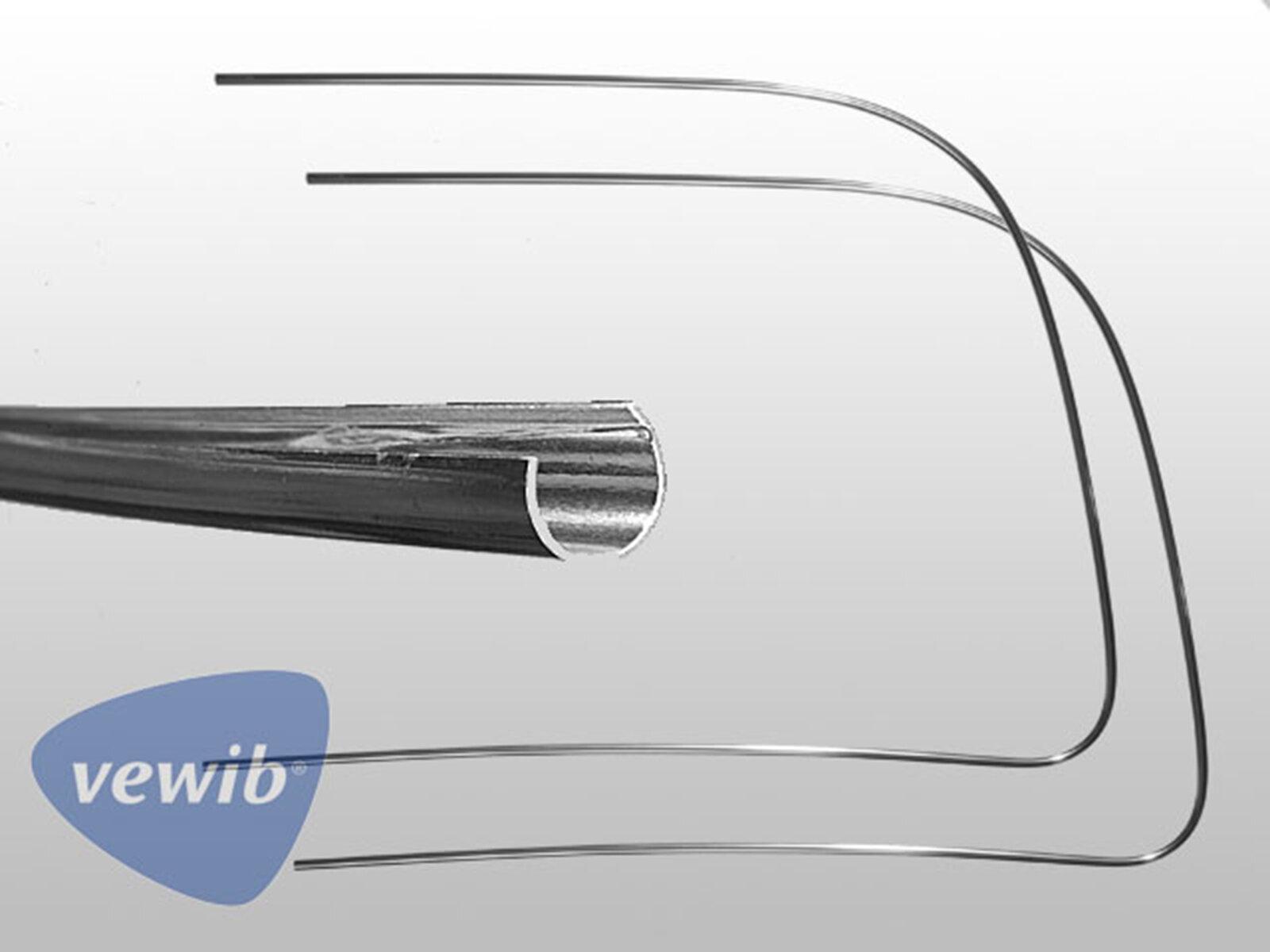 Chrom Zierrahmen-Hälften für VW Käfer 58-64 Frontscheibe