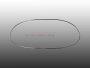 Chrom Zierrahmen für Ovali Oval-Käfer Heckscheibe 53-57