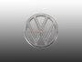 Emblem Zeichen Fronthaube für VW Typ3 ab 70 Kübel Original