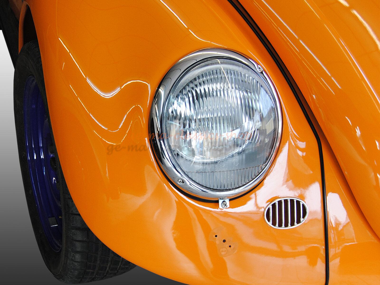 Scheinwerfer für VW Käfer liegend asymmetrisch 61-67 Original Hella