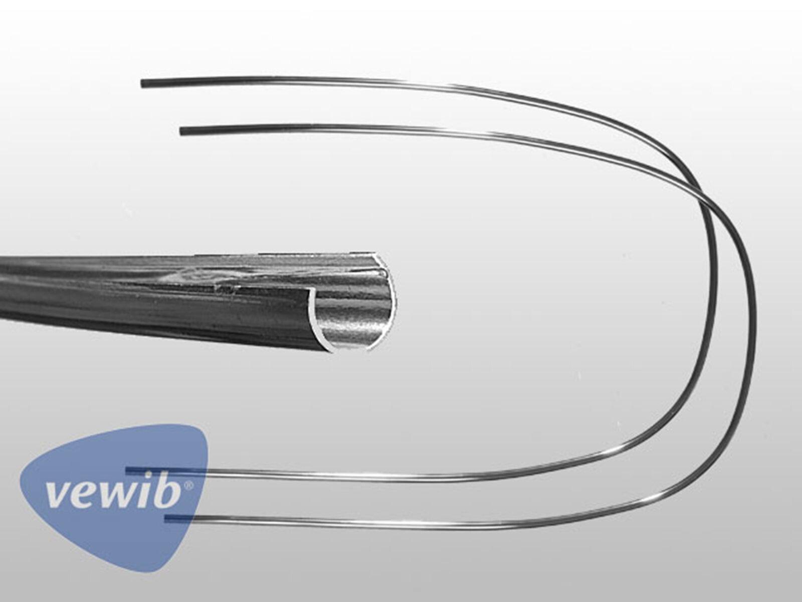 Chrom Zierrahmen-Hälften für VW Käfer-Cabrio Heckscheibe 63-74
