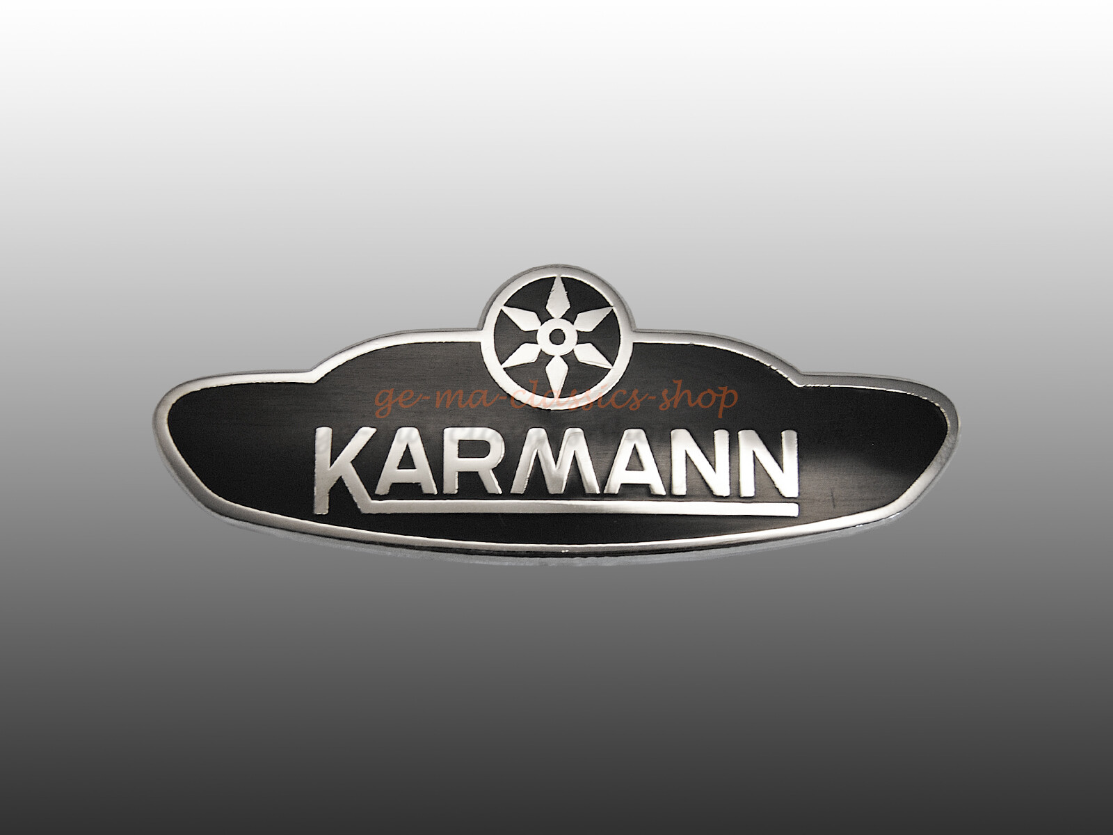 Emailleschild für VW Käfer-Cabrio Emblem Karmann ab 61