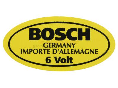 Aufkleber 6V Bosch Zündspule Käfer