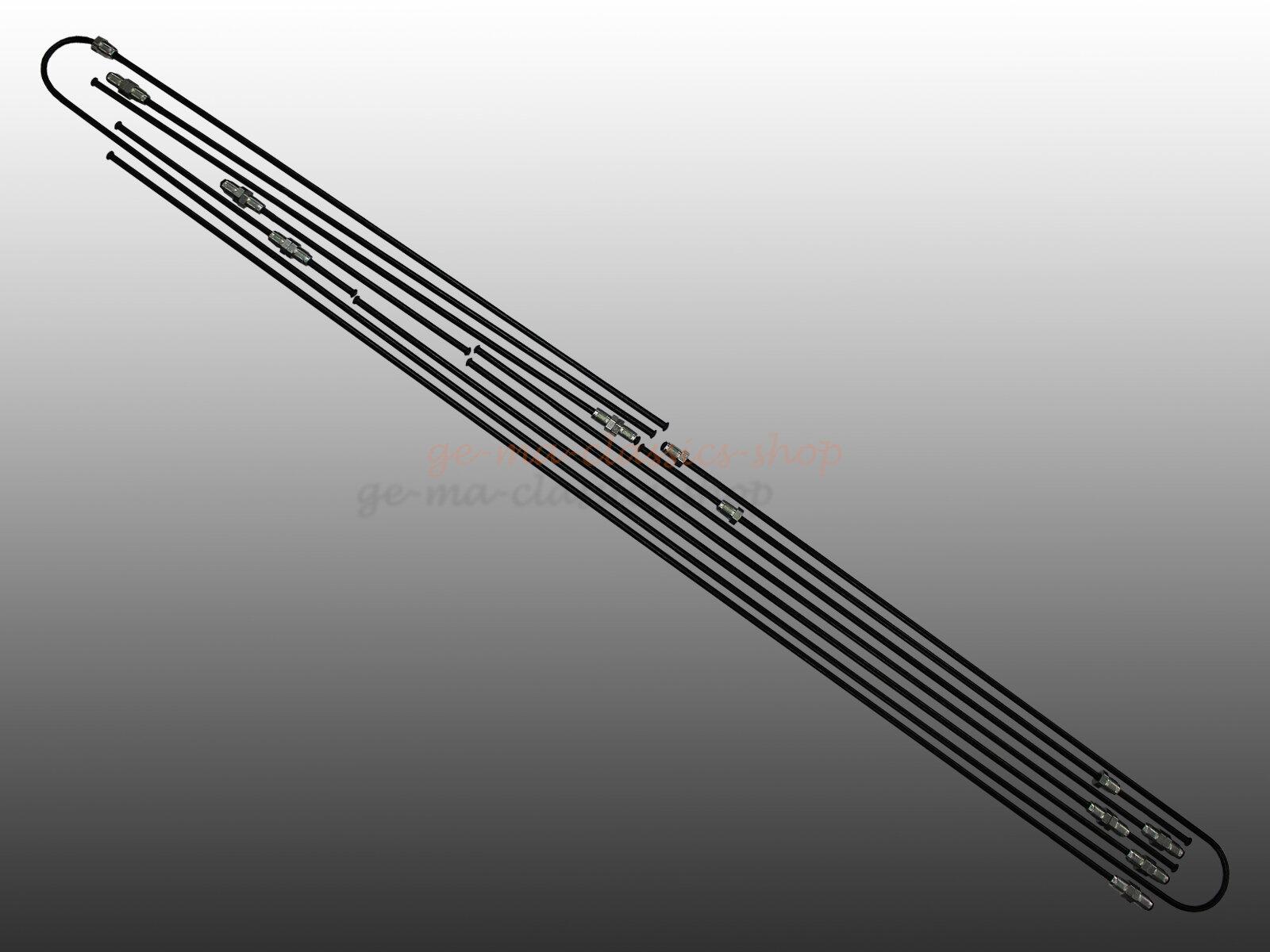 Bremsleitungen für VW Bus T2a Trommelbremse Vorderachse 68-69